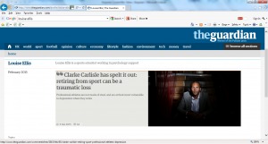 Clarke Carlisle Depression Athlete Depression