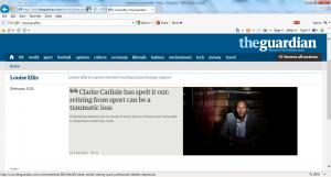 Clarke Carlisle Depression Athlete Depression